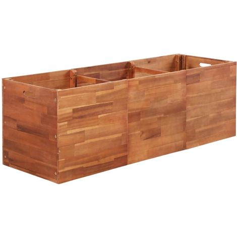 Garden Planter Acacia Wood 150x50x50 cm