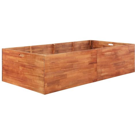 Garden Planter Acacia Wood 200x100x50 cm