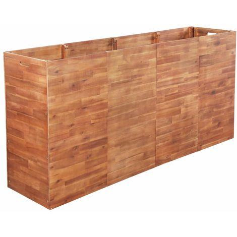 Garden Planter Acacia Wood 200x50x100 cm