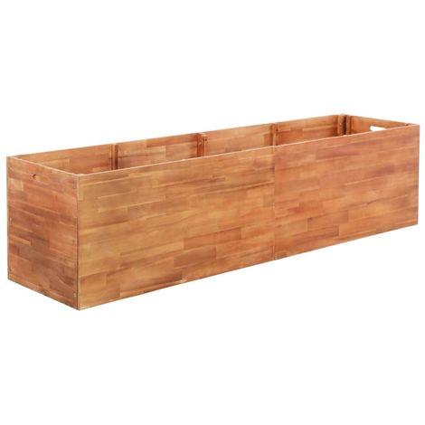 Garden Planter Acacia Wood 200x50x50 cm