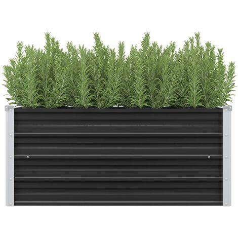 Garden Planter Anthracite 100x40x45 cm Galvanised Steel