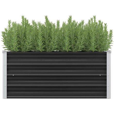 Garden Raised Bed Anthracite 100x40x45 cm Galvanised Steel