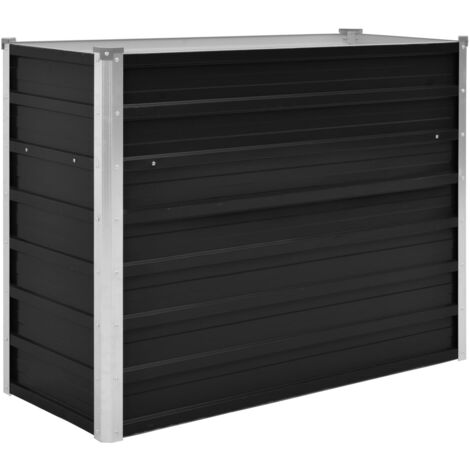 Garden Planter Anthracite 100x40x77 cm Galvanised Steel
