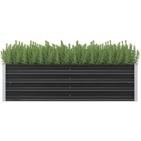 Garden Planter Anthracite 160x40x45 cm Galvanised Steel