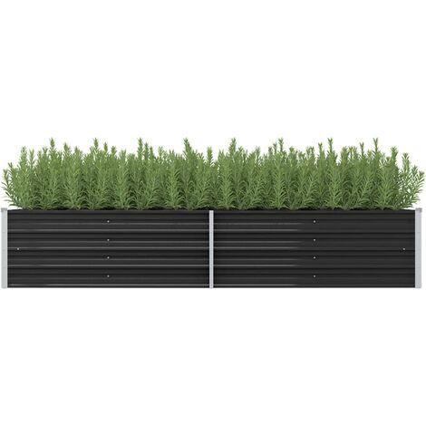 Garden Planter Anthracite 240x80x45 cm Galvanised Steel
