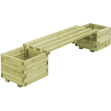 "main image of ""Garden Planter Bench Impregnated Pinewood - Green"""