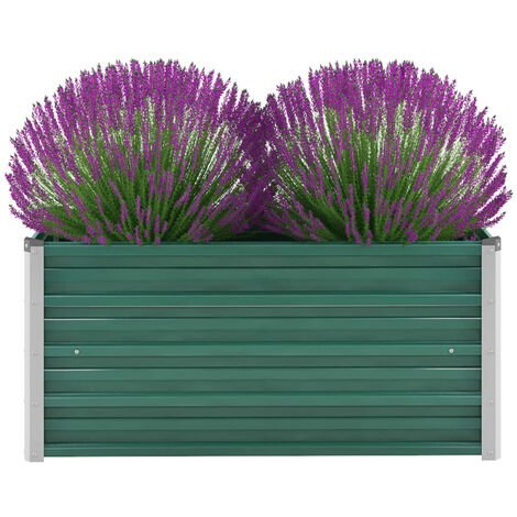 Garden Planter Galvanised Steel 100x40x45 cm Green