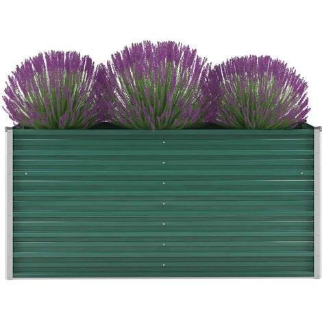 Garden Planter Galvanised Steel 160x40x77 cm Green