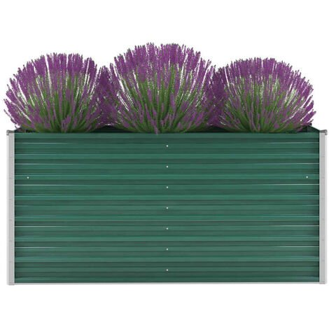 Garden Planter Galvanised Steel 160x40x77 cm Green