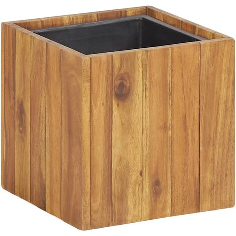 Garden Planter Pot 24.5x24.5x24.5 cm Solid Acacia Wood
