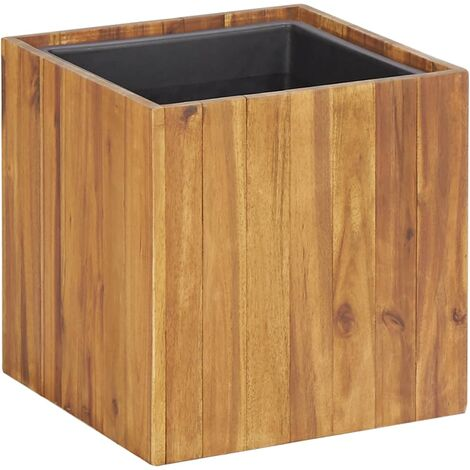 Garden Planter Pot 33.5x33.5x33.5 cm Solid Acacia Wood