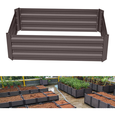 Garden Planter Raised Bed Outdoor Vegetable Plants Flowers Pots Box