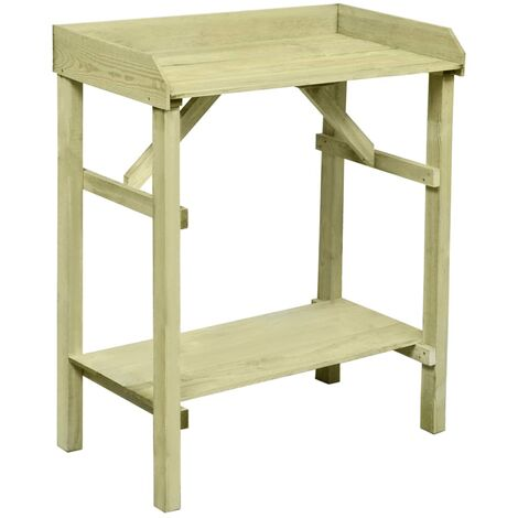 Garden Planter Table FSC Impregnated Pinewood 75x40x90 cm