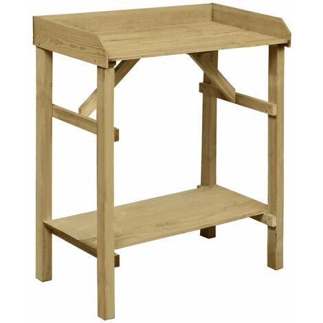 Garden Planter Table Impregnated Pinewood 75x40x90 cm - Green