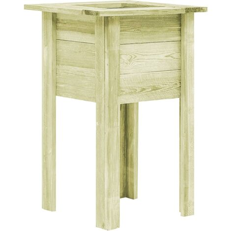 Garden Planter with Feet 50x50x80 cm Impregnated Sawn Wood