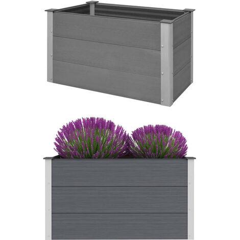 Garden Planter WPC 100x50x54 cm Grey