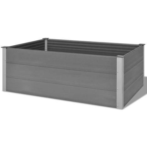 Garden Planter WPC 150x100x54 cm Grey
