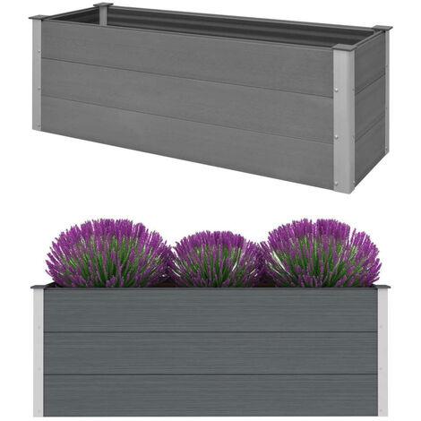 Garden Planter WPC 150x50x54 cm Grey
