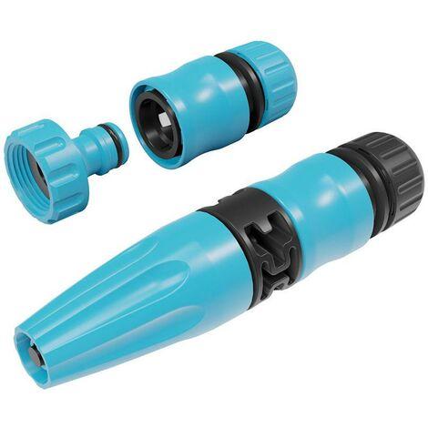 Garden plastic spray 4 piece 1/2'' hose connector nozzle set