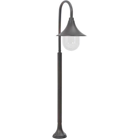 Garden Post Light E27 120 cm Aluminium Bronze - Brown