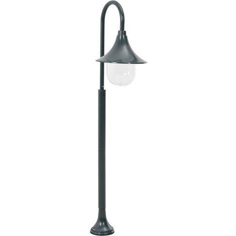 Garden Post Light E27 120 cm Aluminium Dark Green