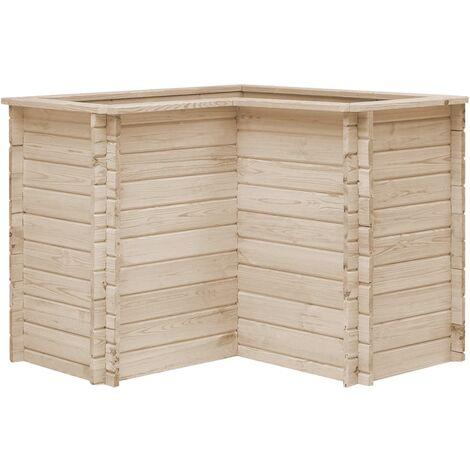 Garden Raised Bed 100x100x80 cm Solid Pinewood