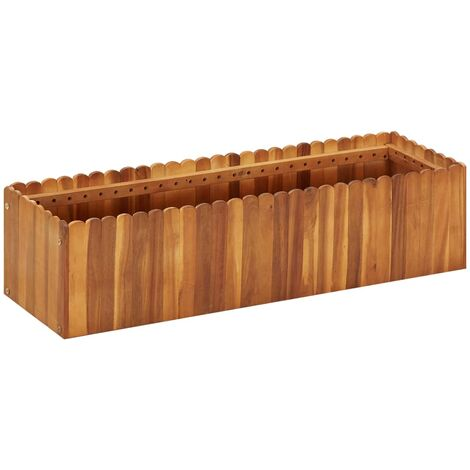 Garden Raised Bed 100x30x25 cm Solid Acacia Wood