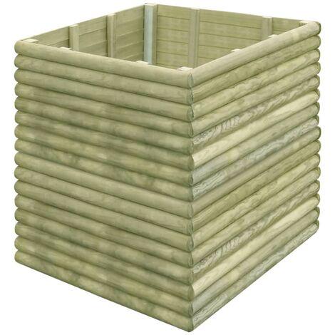 Garden Raised Bed 106x106x96 cm Impregnated Pinewood
