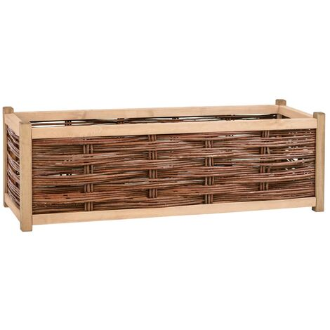 Garden Raised Bed 120x40x40 cm Solid Pine Wood