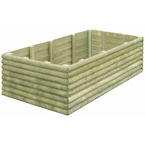Garden Raised Bed 150x106x48 cm Impregnated Pinewood 19 mm