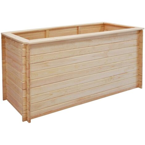 Garden Raised Bed 150x50x80 cm Pinewood 19 mm - Brown
