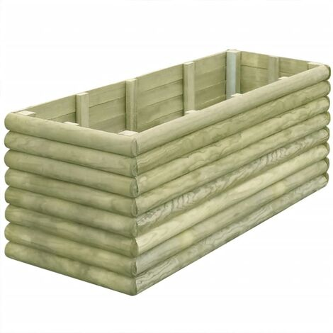 Garden Raised Bed 150x56x48 cm Impregnated Pinewood 19 mm