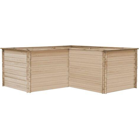Garden Raised Bed 197x197x80 cm Solid Pinewood