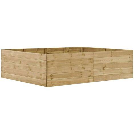 Garden Raised Bed 200x150x54 cm Impregnated Pinewood