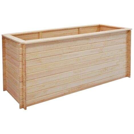 Garden Raised Bed 200x50x80 cm Pinewood 19 mm - Brown