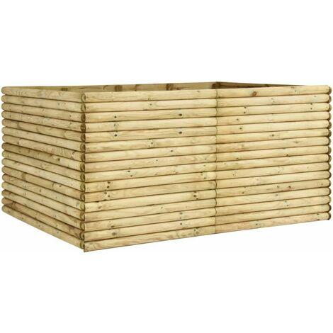 Garden Raised Bed 206x150x96 cm Impregnated Pinewood