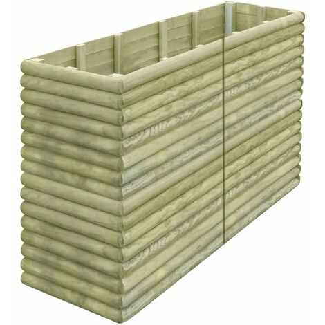 Garden Raised Bed 206x50x96 cm Impregnated Pinewood
