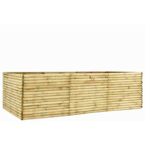 Garden Raised Bed 300x100x96 cm Impregnated Pinewood 19 mm
