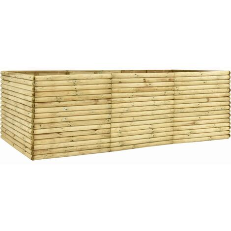 Garden Raised Bed 300x150x96 cm Impregnated Pinewood