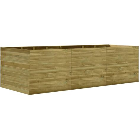 Garden Raised Bed 300x150x97 cm Impregnated Pinewood