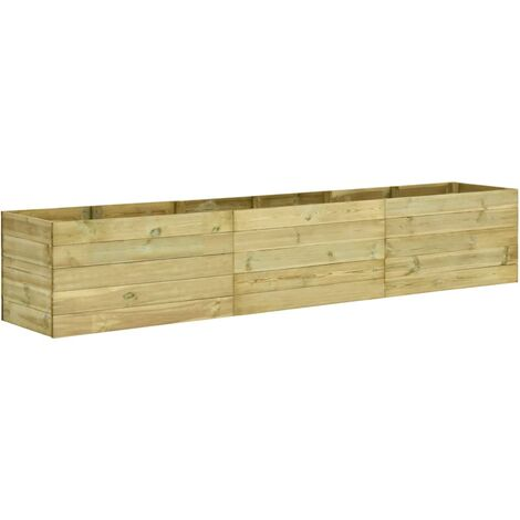 Garden Raised Bed 300x50x54 cm Impregnated Pinewood