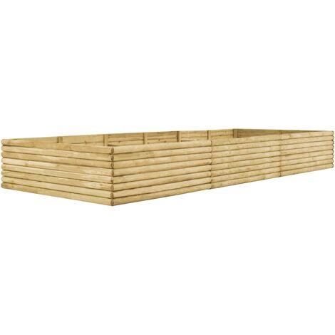 Garden Raised Bed 450x150x48 cm Impregnated Pinewood 19 mm