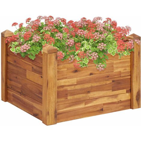 Garden Raised Bed 60x60x44 cm Solid Acacia Wood