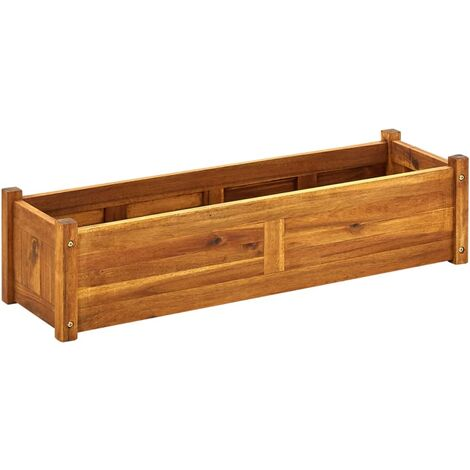 Garden Raised Bed Acacia Wood 100x30x25 cm