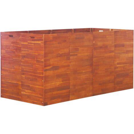 Garden Raised Bed Acacia Wood 200x100x100 cm