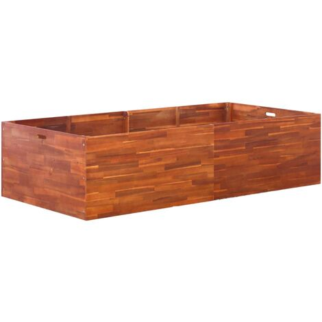 Garden Raised Bed Acacia Wood 200x100x50 cm