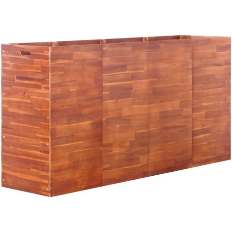 Garden Raised Bed Acacia Wood 200x50x100 cm