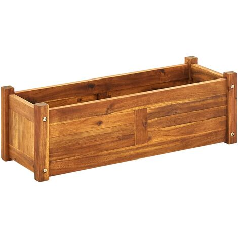 Garden Raised Bed Acacia Wood 76x27,6x25 cm