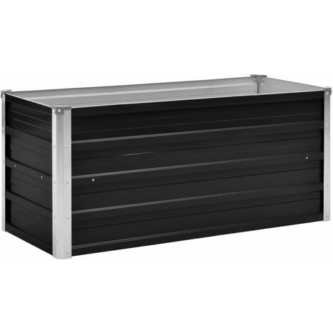 Garden Raised Bed Anthracite 100x40x45 cm Galvanised Steel
