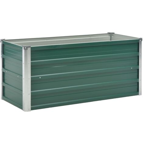 Garden Raised Bed Galvanised Steel 100x40x45 cm Green